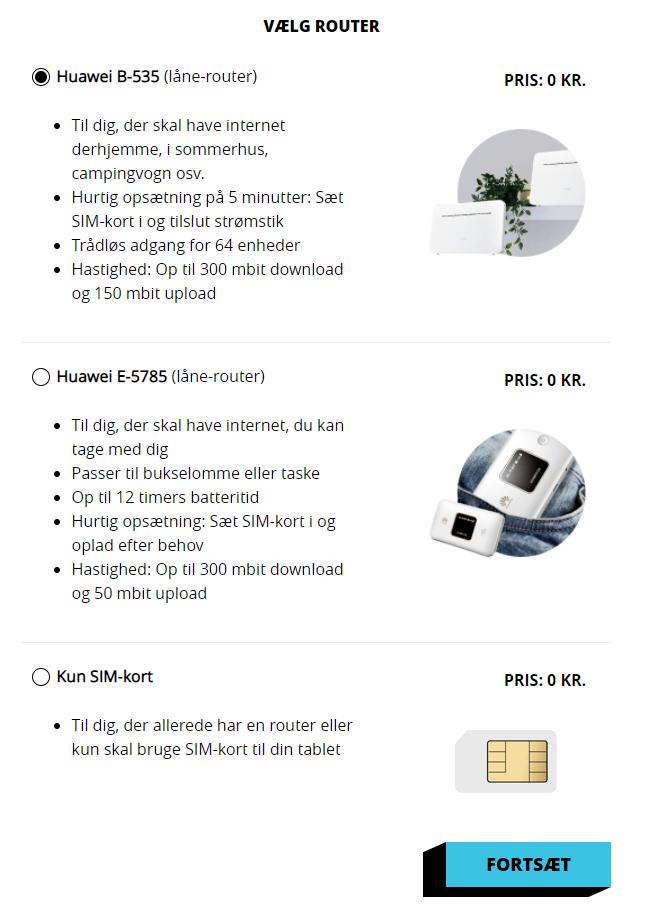 Tellmore mobilt bredbånd router